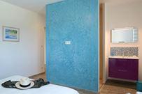 Casa Sicreta, chambre turquoise